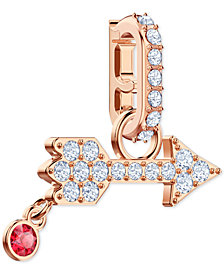 Swarovski Remix Rose Gold-Tone Pavé Arrow Clip-On Charm