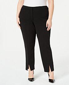 Calvin Klein Plus Size Split-Front Pants
