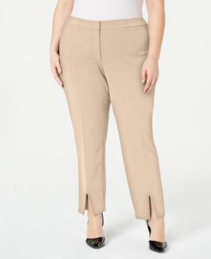 Calvin Klein Pants PLUS SIZE SPLIT-FRONT PANTS