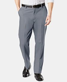 Men's Signature Lux Cotton Classic Fit Creased Stretch Khaki Pants