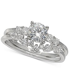 Cubic Zirconia Bridal Set in Sterling Silver, Created for Macy's