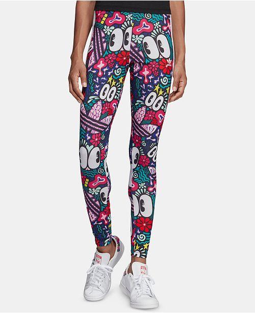 a108fd4a83f adidas Adicolor Cotton Printed Leggings; adidas Adicolor Cotton Printed  Leggings ...