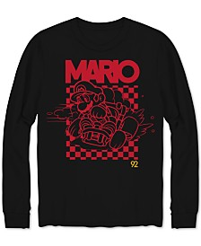 Mario Burn Rubber Long-Sleeve Men's Graphic T-Shirt