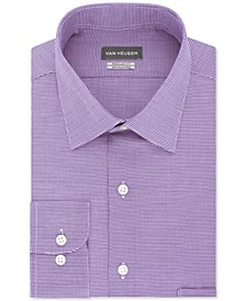 Men's Classic-Fit Micro Houndstooth Dress Shirt