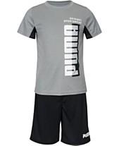 ee7db8c40c91 Puma Toddler Boys 2-Pc. Logo-Print T-Shirt   Shorts Set