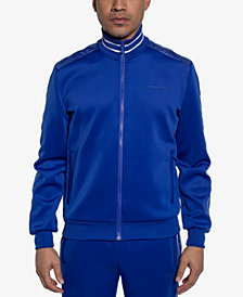 Sean John Men's Logo Taping Neoprene Track Jacket