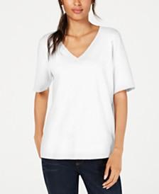 Eileen Fisher Organic Cotton V-Neck T-Shirt, Regular & Petite