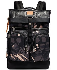 Tumi Men's Alpha Bravo London Printed Roll-Top Backpack