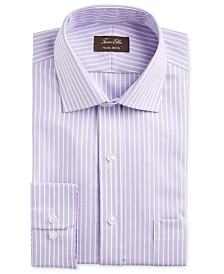 Tasso Elba Men's Classic/Regular-Fit Non-Iron Supima Cotton Twill Bar Stripe Dress Shirt, Created for Macy's