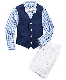 Nautica Toddler Boys 4-Pc. Oxford Shirt, Vest, Shorts & Bowtie Set