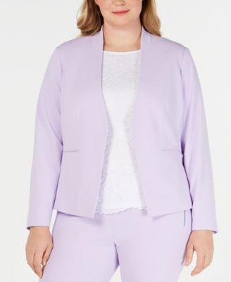 Plus Size Open-Front Jacket