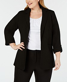 Plus Size Open-Front Blazer