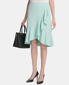 Calvin Klein Petite Ruffled Tulip-Hem Skirt