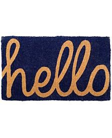 "Fab Habitat Doormat Cursive Hello 18"" x 30"", Extra Thick Handwoven, Durable"