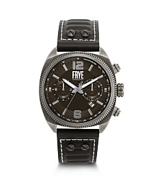 Frye Mens' Moto Engineer Chronograph Black Leather Strap Watch