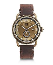 Mens' Weston Mahogany Leather Strap Watch