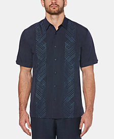 Cubavera Men's Big & Tall Geo Embroidered Panel Shirt