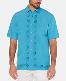 Cubavera Men's Big & Tall Embroidered Geo-Print Shirt