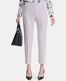 Calvin Klein Slim-Fit Twill Ankle Pants