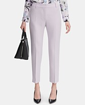 007be279cb2f2 Calvin Klein Slim-Fit Twill Ankle Pants