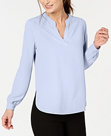 Split-Neck Blouse