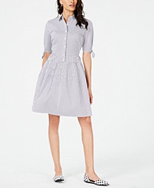 Striped Fit & Flare Shirtdress, Created for Macy's