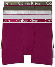 Calvin Klein Men's Comfort Microfiber Boxer Brief 3 Pack