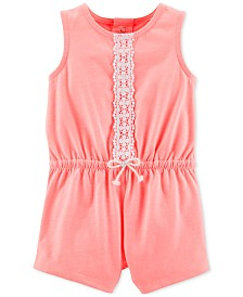 Carter's Baby Girls Lace-Detailed Romper