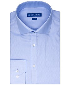 Men's Slim-Fit Stretch Dobby Dress Shirt
