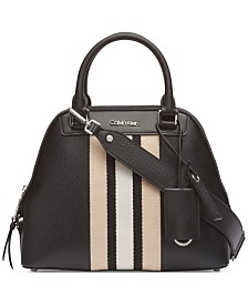Calvin Klein Clara Leather Satchel