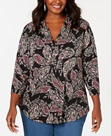 01721cf2c3c Plus Size Tops - Womens Plus Size Blouses   Shirts - Macy s