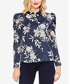 Vince Camuto Printed Puff-Sleeve Blouse