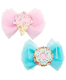On the Verge Little & Big Girls 2-Pk. Bow Clips