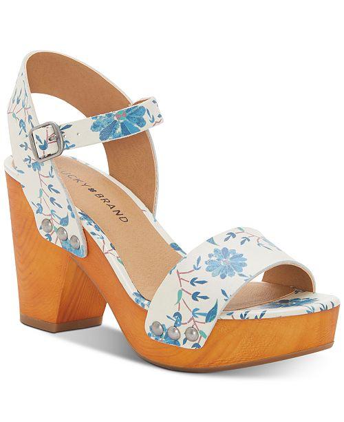 076a0e9a56d5 Lucky Brand Women s Trisa Wood Sandals   Reviews - Sandals   Flip ...