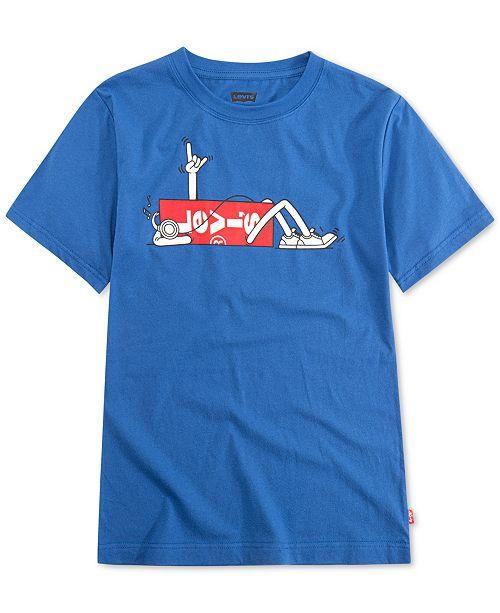 Levi's Little Boys Striped Graphic-Print Cotton T-Shirt