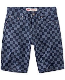 Little Boys 502 Checkerboard-Print Taper-Fit Denim Shorts