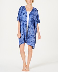 Jenni Light Weight Printed Short-Sleeve Robe, Created for Macy's