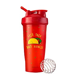 Just For Fun Classic 28-Ounce Shaker Bottle, Let'S Taco 'Bout Fitness