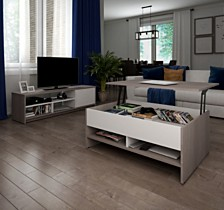 Small Space 2 - Piece Lift - Top Storage Coffee Table and TV Stand Set