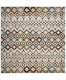 """Amsterdam Ivory and Multi 5'1"""" x 5'1"""" Square Area Rug"""