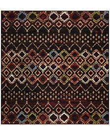 "Safavieh Amsterdam Black and Multi 5'1"" x 5'1"" Square Area Rug"