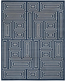 Amherst Navy and Ivory 9' x 12' Area Rug