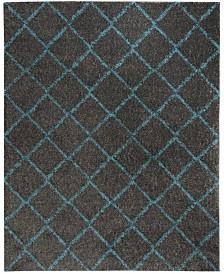 Safavieh Arizona Shag Gray and Turquoise 9' x 12' Area Rug