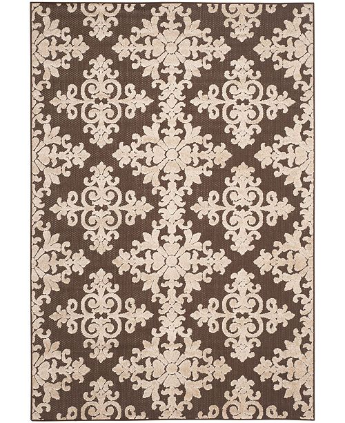 Safavieh Cottage Brown and Creme 4' x 6' Area Rug