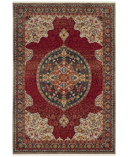 """Safavieh Kashan Red and Blue 3'3"""" x 4'10"""" Area Rug"""