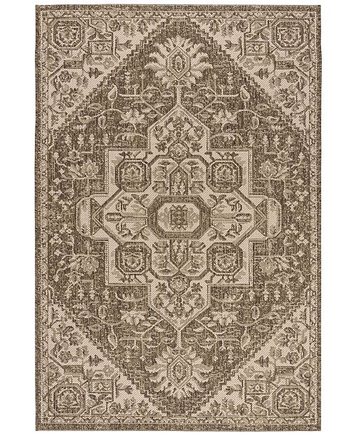 "Safavieh Linden Cream and Beige 5'1"" x 7'6"" Area Rug"