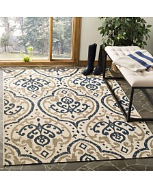 "Martha Stewart Collection Beige and Navy 4' x 5'7"" Area Rug, Created for Macy's"