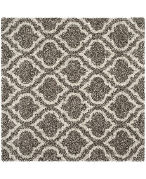 Safavieh Hudson Gray and Ivory 7' x 7' Square Area Rug