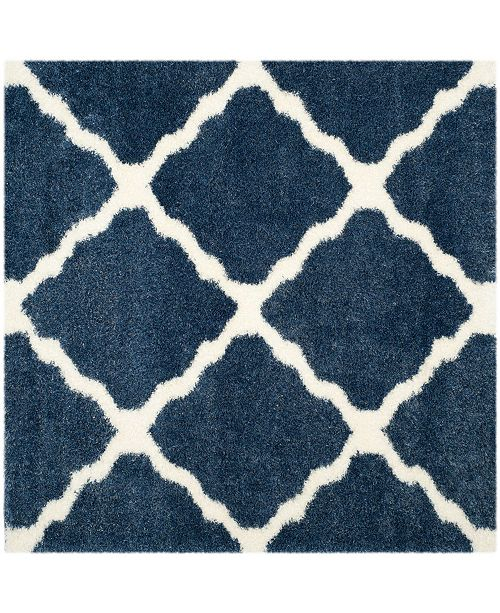 "Safavieh Montreal Blue and Ivory 6'7"" x 6'7"" Square Area Rug"