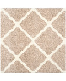 "Montreal Beige and Ivory 6'7"" x 6'7"" Square Area Rug"